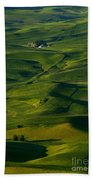 Palouse Green Beach Towel
