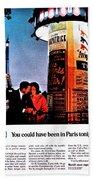 Pan Am To Paris Beach Towel