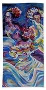 Panama Carnival. Folk Dancers Beach Towel