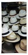 Panama Hats In Ecuador Beach Towel