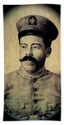 Pancho Villa In Military Uniform Drawing No  Date-2013  Beach Towel