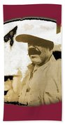 Pancho Villa   Portrait Unknown Mexico Location And Date-2013  Beach Towel