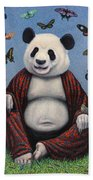 Panda Buddha Beach Towel