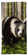 Pandas In A Bamboo Forest Beach Towel
