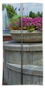 Sample Paneled Concrete Flower Pot Beach Towel