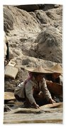 Panning For Gold Mekong River 2 Beach Towel
