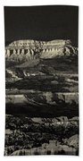 Panorama Bryce Canyon Storm In Black And White Beach Towel