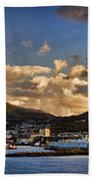 Panorama Cape Town Harbour At Sunset Beach Towel