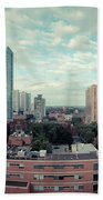 Panorama-dt-toronto Looking East Beach Towel
