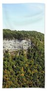 Panorama Of Cliff At Letchworth State Park Beach Towel