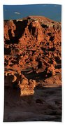 Panorama Of Hoodoos At Sunset Goblin Valley State Park Utah Beach Towel