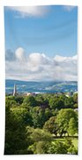 Panorama Of Phoenix Park And Wicklow Mountains Beach Towel