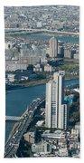 Panorama Of Tokyo Beach Towel