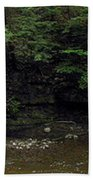 Panorama Of Wolf Creek At Letchworth State Park Beach Towel