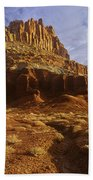 Panorama The Castle On A Cloudy Morning Capitol Reef National Park Beach Towel