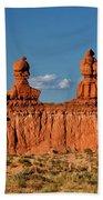 Panorama Three Sisters Hoodoo Goblin Valley Utah Beach Towel