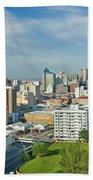 Panoramic Aerial View Of Durban, South Beach Towel