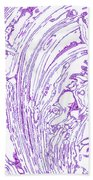 Panoramic Grunge Etching Purple Color Beach Towel