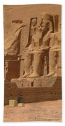 Panoramic Photograph Of Famous Egyptian Monument Beach Towel