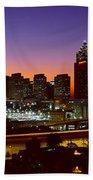Panoramic View Of Atlanta Skyline Beach Towel