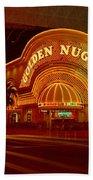 Panoramic View Of Golden Nugget Casino Beach Towel