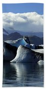 Panoramic View Of Icebergs And Glaciers Beach Towel