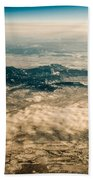 Panoramic View Of Landscape Of Mountain Range Beach Towel