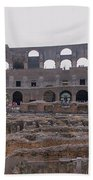 Panoramic View Of The Colosseum Beach Towel