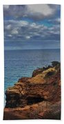 Panoramic View Of The Grotto Beach Towel