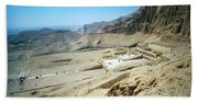 Panoramic View Over Hatschepsut Temple Beach Towel