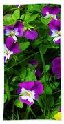 Pansies Beach Towel
