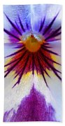 Pansy Abstract 1 Beach Towel