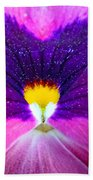 Pansy Abstract 3 Beach Towel