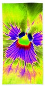 Pansy Power 59 Beach Towel