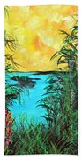 Panther Island In The Bayou Beach Towel