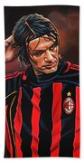 Paolo Maldini Beach Towel by Paul Meijering
