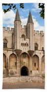 Papal Castle In Avignon Beach Towel by Inge Johnsson