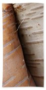 Paper Birch Bark Beach Towel