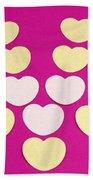 Paper Hearts Beach Towel