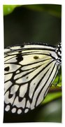Paper Kite Butterfly On A Leaf  Beach Towel