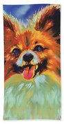 Papillion Puppy Beach Towel