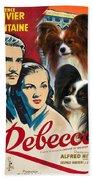 Papillon Art - Rebecca Movie Poster Beach Towel