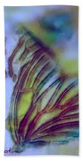 Papillon Bleu Beach Towel