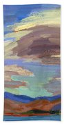 Papoose Lake And Clouds Beach Towel