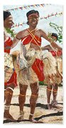 Papua New Guinea Cultural Show Beach Towel