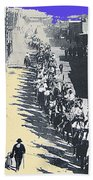Parade Honoring General Nelson A. Miles  11-08-1887 Geronimo's Capture Tucson Color Added 2008 Beach Towel