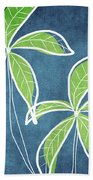 Paradise Palm Trees Beach Towel by Linda Woods
