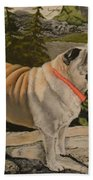 Paradise Pug Beach Towel