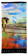 Paradise Sunset Beach Towel by Betsy Knapp