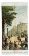 Paris Boulevard, 1859 Beach Towel